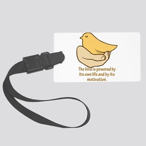 The bird is powered by its own l Large Luggage Tag