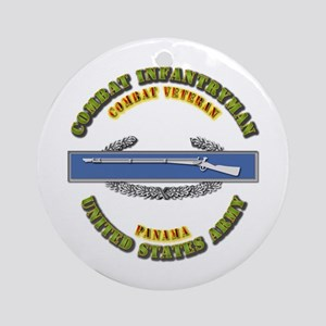 Army - CIB - 1st Award - Panama Ornament (Round)