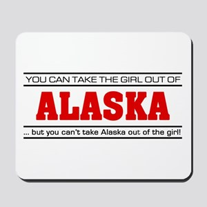 'Girl From Alaska' Mousepad