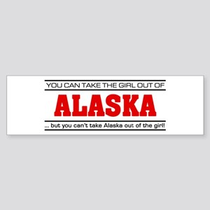 'Girl From Alaska' Sticker (Bumper)