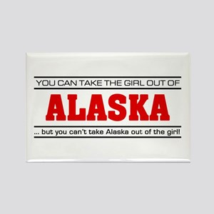 'Girl From Alaska' Rectangle Magnet