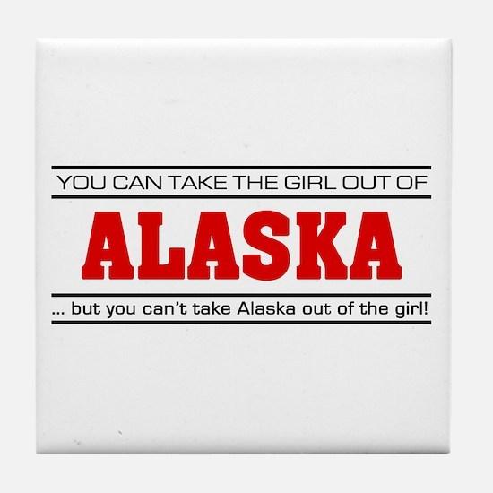 'Girl From Alaska' Tile Coaster