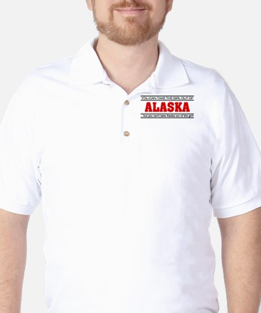 'Girl From Alaska' Golf Shirt
