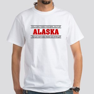 'Girl From Alaska' White T-Shirt