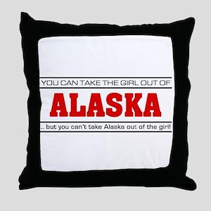 'Girl From Alaska' Throw Pillow