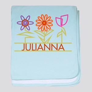 Julianna with cute flowers baby blanket