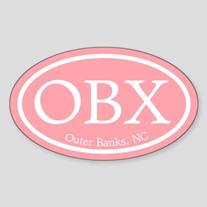 OBX Pink Outer Banks Sticker (Oval)