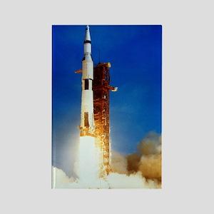 Saturn V Launch Rectangle Magnet