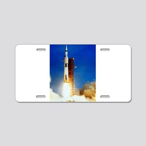 Saturn V Launch Aluminum License Plate