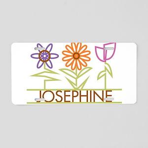 Josephine with cute flowers Aluminum License Plate
