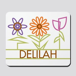 Delilah with cute flowers Mousepad