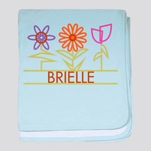 Brielle with cute flowers baby blanket