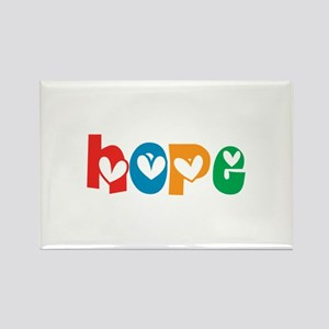Hope_4Color_1 Rectangle Magnet (10 pack)