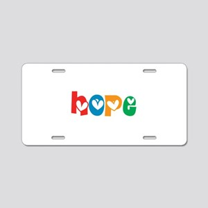 Hope_4Color_1 Aluminum License Plate