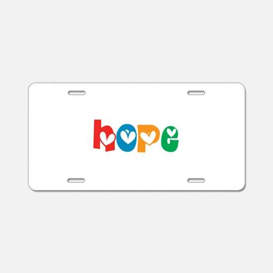 Hope_4Color_1 Aluminum License Plate
