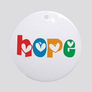 Hope_4Color_1 Ornament (Round)