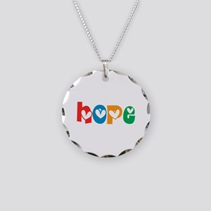 Hope_4Color_1 Necklace Circle Charm