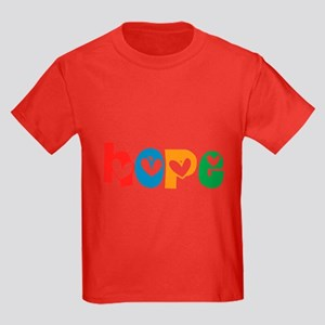 Hope_4Color_1 Kids Dark T-Shirt