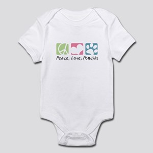 Peace, Love, Pomchis Infant Bodysuit