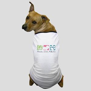 Peace, Love, Pomchis Dog T-Shirt