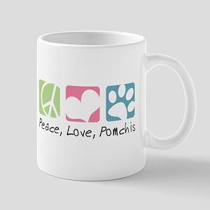 Peace, Love, Pomchis Mug