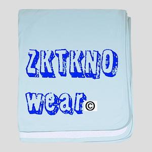 zktkno wear blue baby blanket