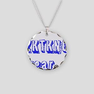 zktkno wear blue Necklace Circle Charm
