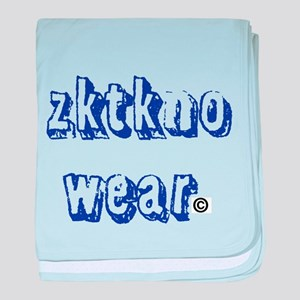 zktkno wear blue2 baby blanket