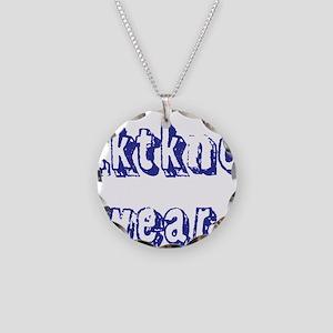 zktkno wear blue2 Necklace Circle Charm