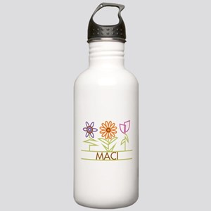 Maci with cute flowers Stainless Water Bottle 1.0L