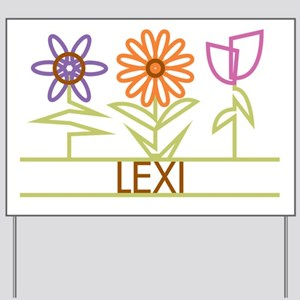Lexi with cute flowers Yard Sign