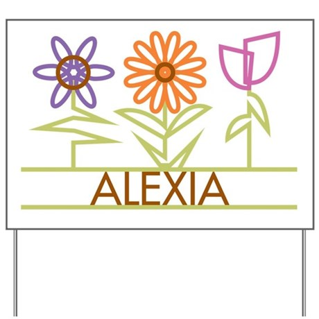 Alexia with cute flowers Yard Sign