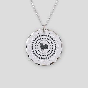 Papillon Necklace Circle Charm