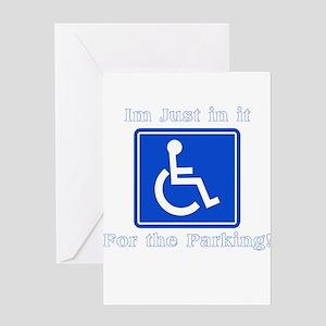 Handicap Parking Greeting Card