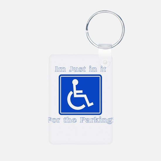 Handicap Parking Aluminum Photo Keychain