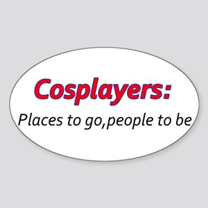 Cosplay Sticker (Oval)