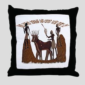 Egyptian Harvest Throw Pillow