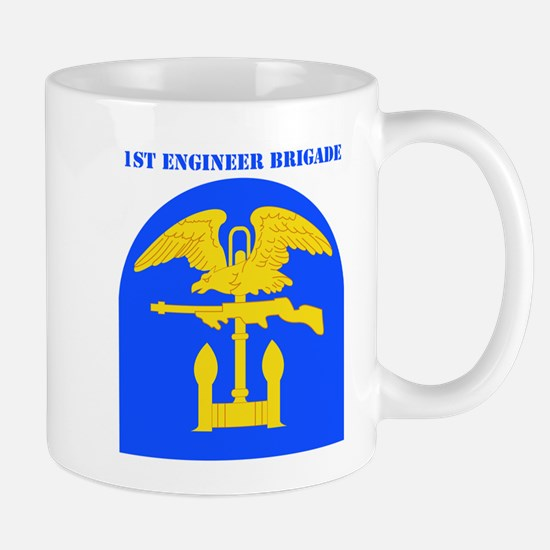 SSI-1ST ENGINEER BDE WITH TEXT Mug