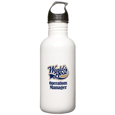 Operations Manager Gift Stainless Water Bottle 1.0