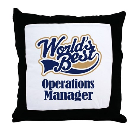 Operations Manager Gift Throw Pillow