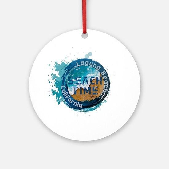 California - Laguna Beach Round Ornament