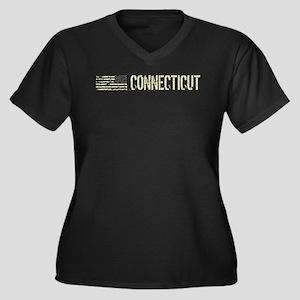 Black Flag: Women's Plus Size V-Neck Dark T-Shirt