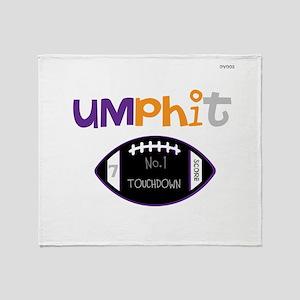 OYOOS Touchdown Football desi Throw Blanket
