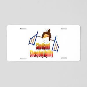 Shetland Sheepdog Agility Aluminum License Plate