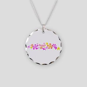 Beagle Necklace Circle Charm