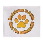 Bullmastiff Throw Blanket