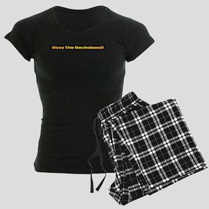 Dachshund Women's Dark Pajamas
