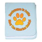 Siberian Husky baby blanket