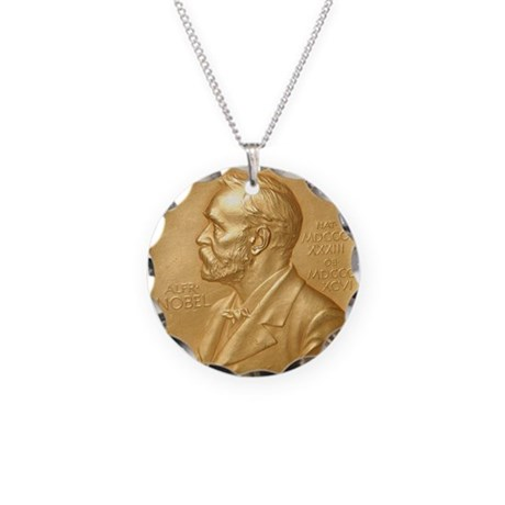 Nobel Peace Prize Necklace Circle Charm