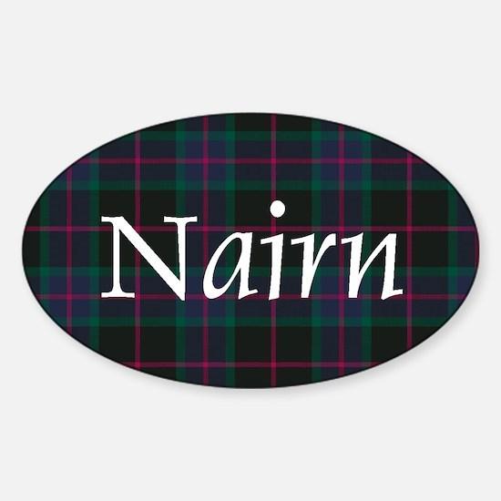 Tartan - Nairn Sticker (Oval)